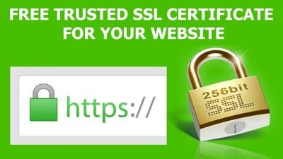free ssl certificate for your website https