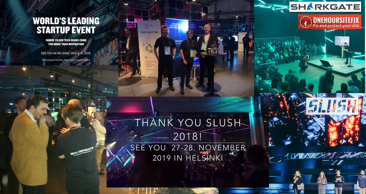 Thanks to everyone we met at #Slush18! If we have not already been back in touch, then we would still love to hear back from you,