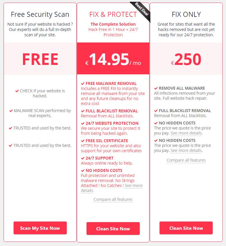 Pricing OneHourSiteFix